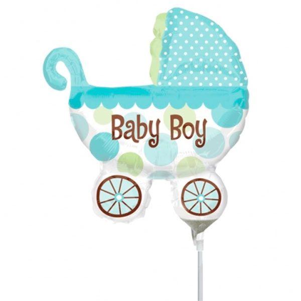 Balão Mini Shape Carrinho de Bebê - unidade
