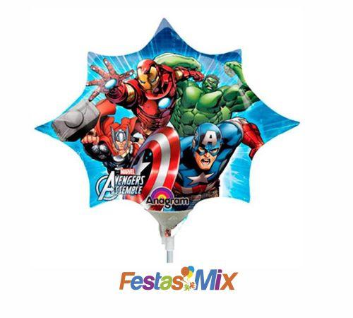 Balão Metalizado Mini  Shape Vingadores