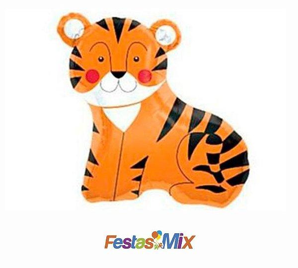 Balão Metalizado Mini Shape - Tigre