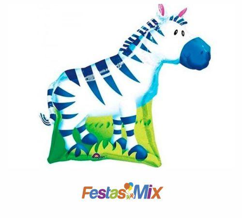 Balão Metalizado Mini Shape Zebra