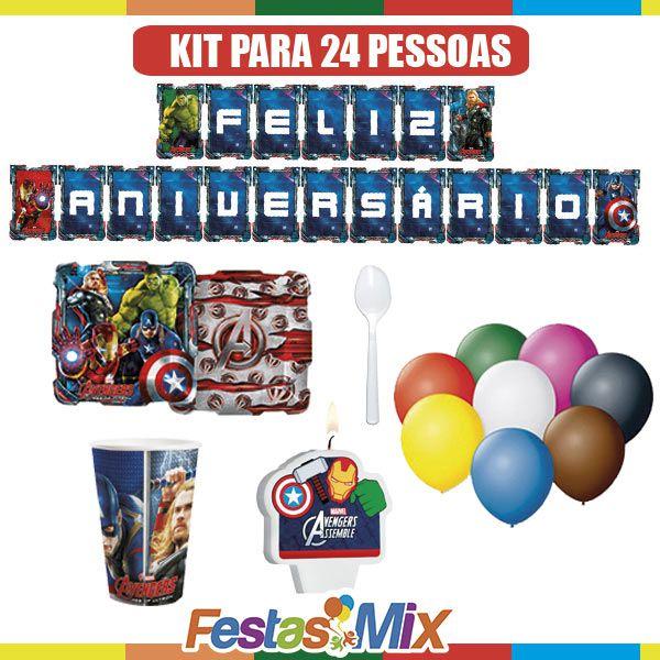 Kit Festa Infantil - Vingadores - 24 pessoas