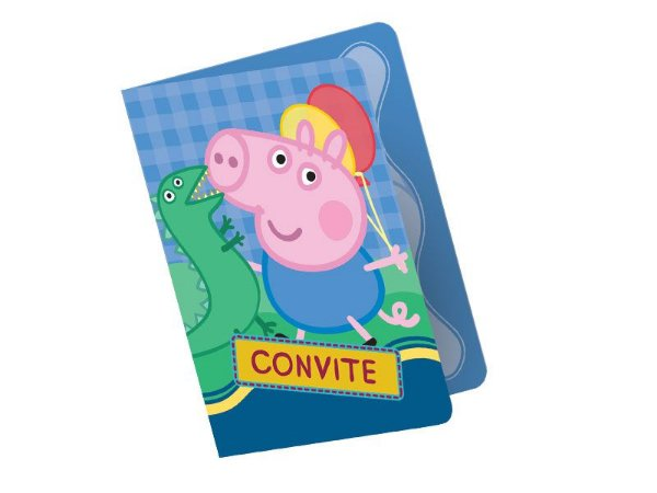 Kit Convite -  George Pig - 04 pacotes