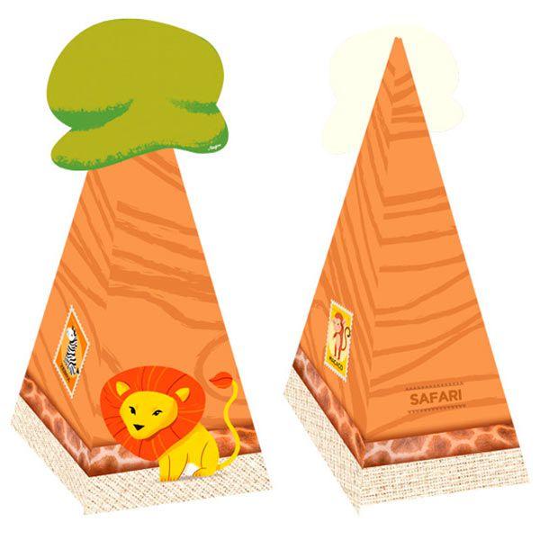 Cone com Aplique - Safari - 08 unidades