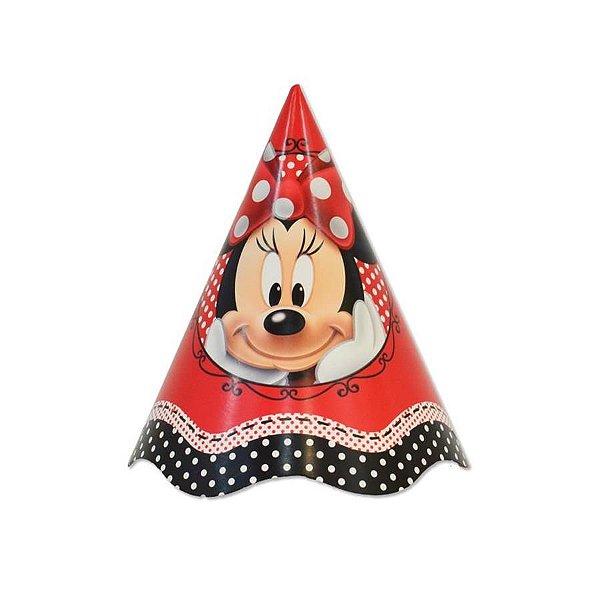 Chapéu Aniversário - Minnie Vermelha - 08 unidades