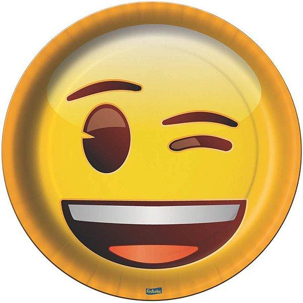 Prato de Papel - Emoji - 08 unidades