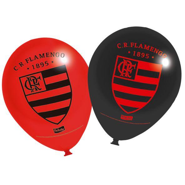 Balão látex 9 Polegadas - Flamengo - 25 unidades