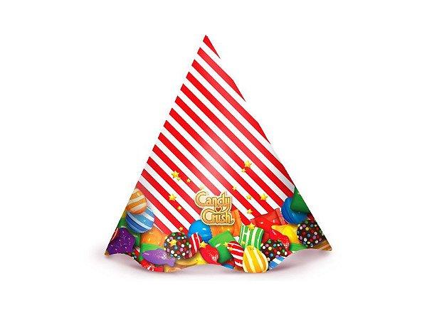 Chapéu de Aniversário Candy Crush- 08 unid