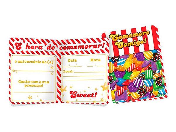 Convite - Candy Crush - 08 unidades