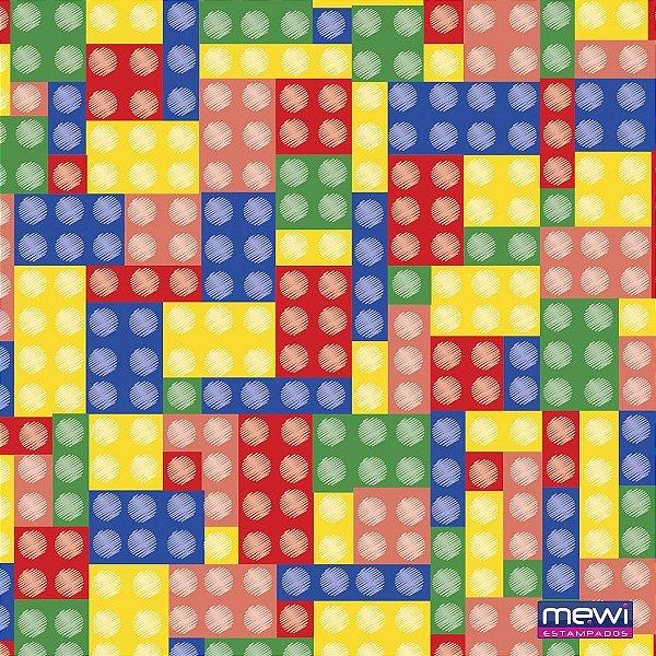 TNT Estampado - Lego Colorido com Pino - 05 Metros