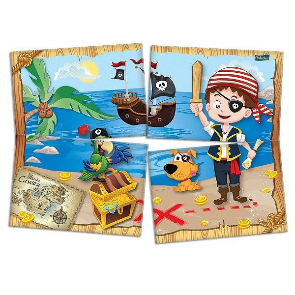 Painel 4 Folhas - Piratas