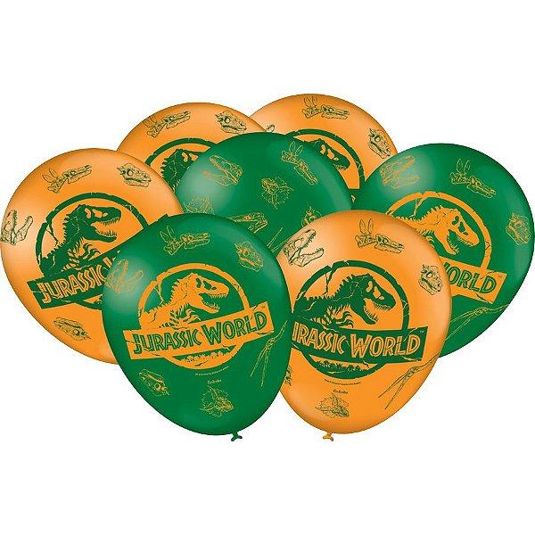 Balão Latex 9 polegadas - Jurassic World - 25 unidades
