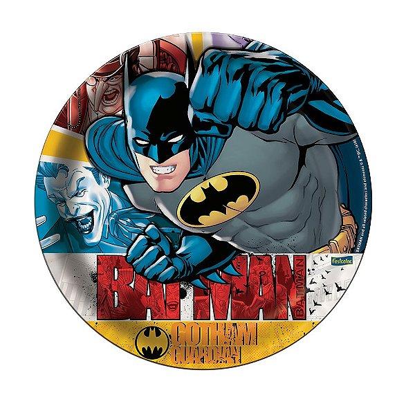 Prato de Papel - Batman New - 08 unidades
