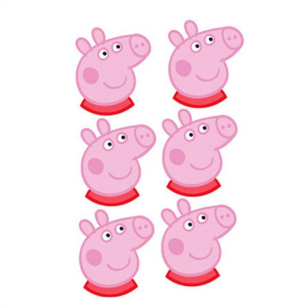 Mini Carinhas EVA - Peppa Pig - 06 unidades