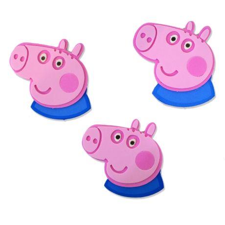 Mini Carinhas EVA -George Pig - 06 unidades