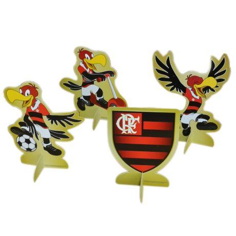 Decoração de Mesa - Flamengo - 08 unidades