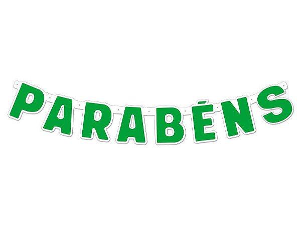 Faixa Parabéns - Festa Colors - Verde