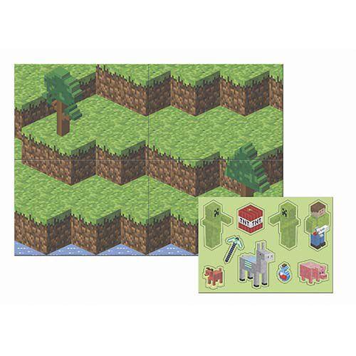 Painel 5 Folhas - Festa Mini Pixels