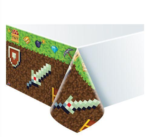 Toalha de Mesa Plástica - Mini Pixels