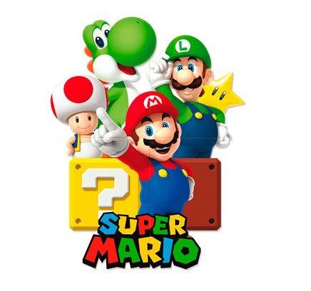 Painel 4 Folhas Decorativo - Super Mario Bros