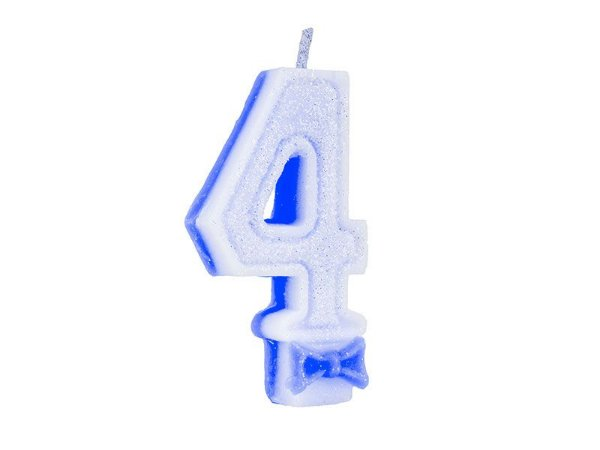 Vela de Aniversário Glitter - Azul - Nº 4