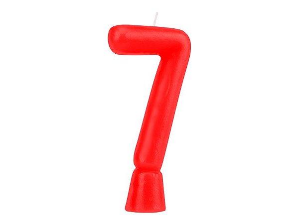 Vela Solid Colors - Vermelha - Nº 7