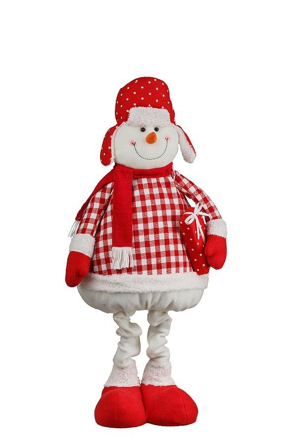 Boneco de Neve Pernas Extensivas Candy - 1,04m