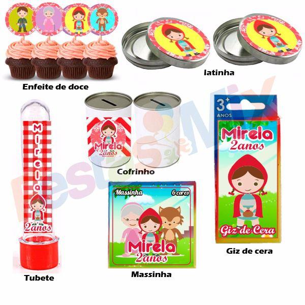 Kit Festa- Lembrancinha Personalizada -Chapeuzinho Vermelho