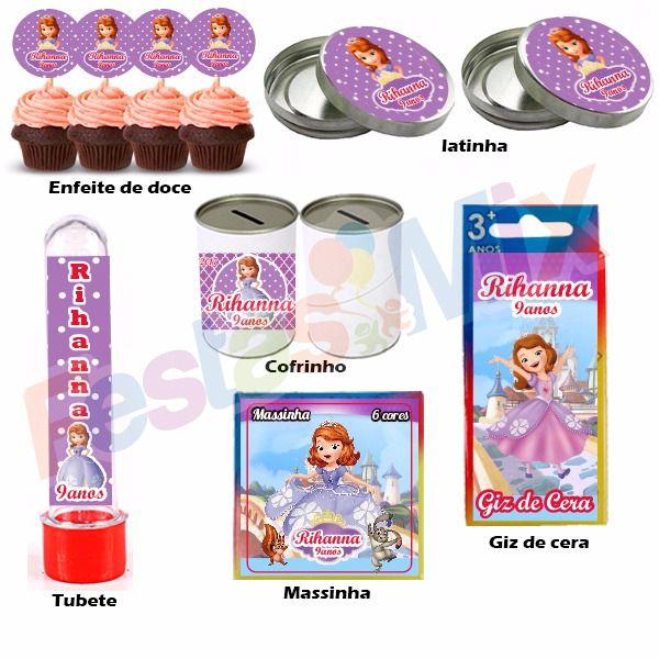 Kit Festa - Lembrancinha Personalizada - Princesinha Sophia