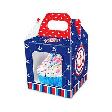 Kit Caixa para Cupcake - Marinheiro - 02 pacotes