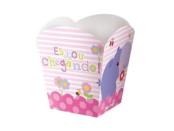 Kit Cachepot - Fisher Price Chá de Bebê Menina -02 pacotes
