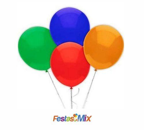 Balão Látex 6,5 Polegadas - Cores Sortidas - 50 unidades