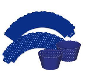 Saia para Cupcake  Dupla Face - Azul Escuro - 12 unidades