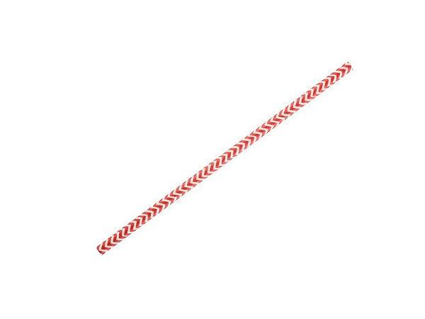 Canudo de Papel - Zig Zag Vermelho - 12 unidades