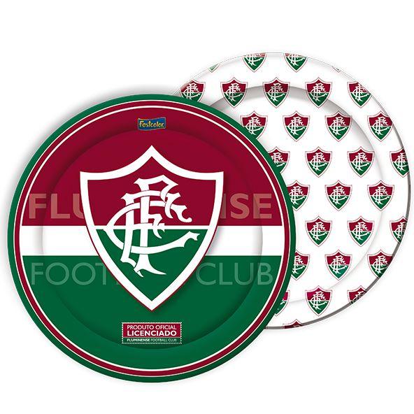 Prato de Papel - Fluminense - 08 unidades