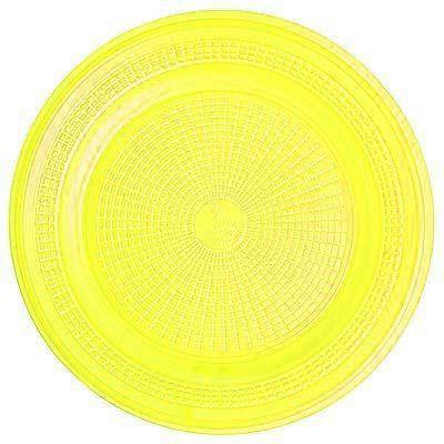 Prato de Sobremesa Descartável - Amarelo - 10 unidades