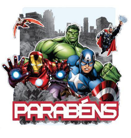 Painel Parab 233 Ns Os Vingadores Festas Mix Nossa