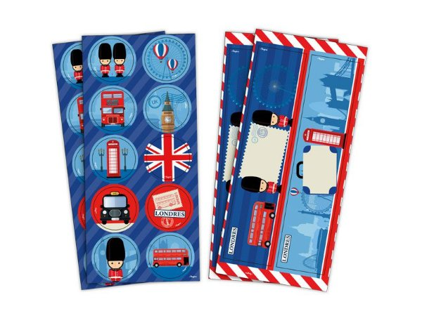 Adesivo Redondo e Retangular - Londres -  04 cartelas