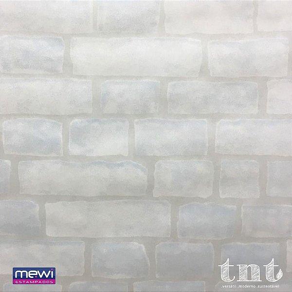 TNT Estampado Tijolinho Branco - 1 metro