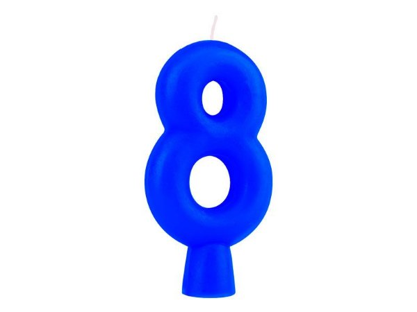 Vela Solid Colors - Azul - Nº 8