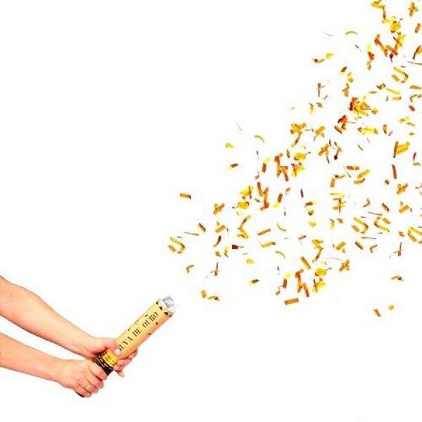 Lança Confete - Chuva de Ouro - 30 cm
