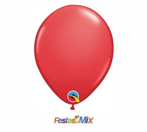 Balão Látex 5 polegadas - Vermelho - 05 unidades