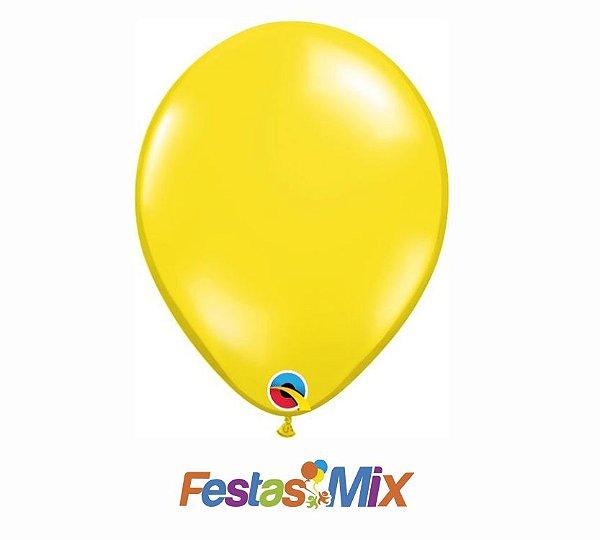 Balão Látex 11 Polegadas - Amarelo Citrino - 05 unidades