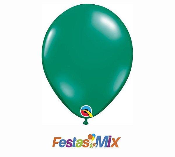Balão Látex 11 Polegadas - Verde Esmeralda - 05 unidades