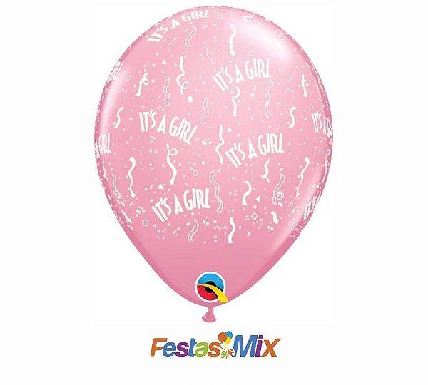 Balão Látex 11 Polegadas - It's a Girl - 05 unidades