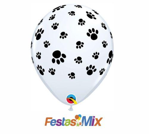 Balão Látex 11 Polegadas - Patinhas - 05 unidades