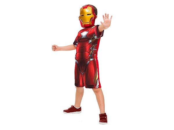 Fantasia Infantil - Homem Ferro Clássica Curta Máscara - G