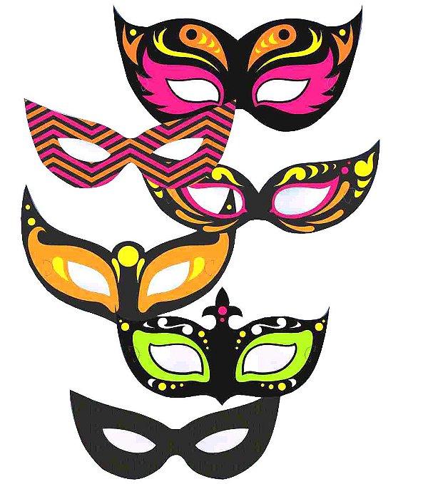Máscara Neon - 06 unidades