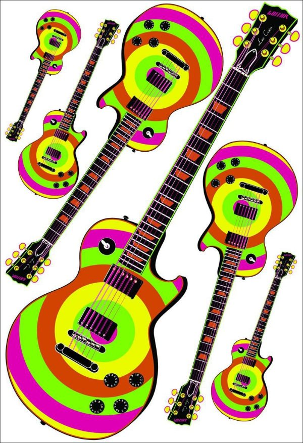 Painel Guitarra Neon - 04 unidades
