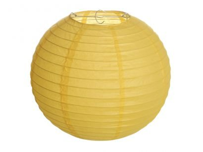 Lanterna de Papel - Amarela - 25 cm