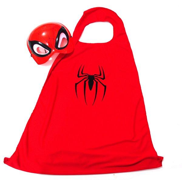 Fantasia - Homem-Aranha Capa + Máscara